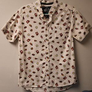 Fast Food Button Down Casual Shirt